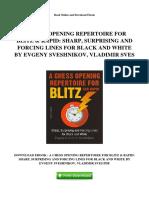 a-chess-opening-repertoire-for-blitz-rapid-sharp-surprising-and-forcing-lines-for-black-and-white-by-evgeny-sveshnikov-vladimir-sves