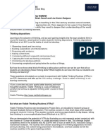 How to Create a Thinking Classroom - HANDOUT1 Let's Make our Thinking Visible in the EFL Class