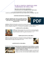 CELEBRACIÓN DE LA PASCUA CRISTIANA 2020