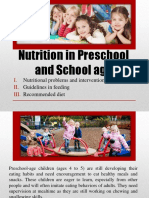 Nutrition in Preschool and School age