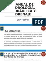 RESUMEN MANUAL DE HIDROLOGIA CAPITULO III