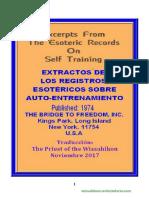 extractos de los registros esotericos