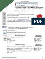 Resumen de Gramática inglesa