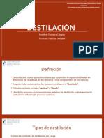 Destilación Operaciones unitarias