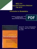 Bio Statistics Lecture 1
