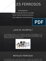 TIPOS DE METALES FERROSOS