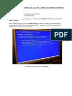 instalacion de windows XP y Ubuntu