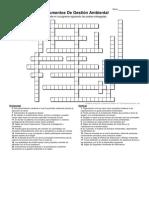 Crucigrama Gestión Ambiental