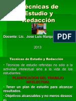 TECNICAS DE ESTUDIO Y REDACCIÓN