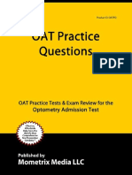 OAT Exam Secrets Test Prep Team - OAT Practice Questions_ OAT Practice Tests & Exam Review for the Optometry Admission Test-Mometrix Media LLC (2013)