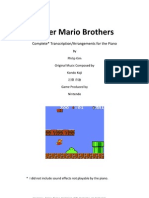 Super Mario Bros - Mario Main Theme - Koji Kondo pdf | Video