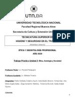 TRABAJO PRÁCTICO INTEGRADOR UNIDAD 3 - Etica, Axiología y Sociedad - Grupo 4 - Micciullo Florencia