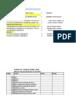 Balance prueba, py g y balance general Carvajal consultores ltda.