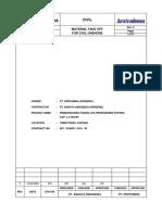 TNU-MT-50-001-A4 R0 Material Take Off