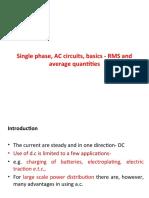 Single Phase AC circuit