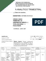Programa Analitico Sistema Acuicola