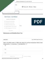 Maintenance and Reliability Mock Test - Vskills Practice Tests.pdf