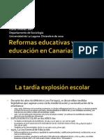 La situación educativa en Canarias