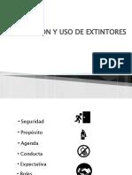 EVACUACIÓN Y USO DE EXTINTORES