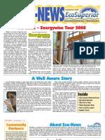 Fall 2008 Eco Newsletter, EcoSuperior