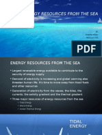Energy Sources From Sea