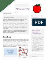 family communication parent newsletter