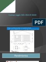 Cubicar según NCh 353 Of 2000