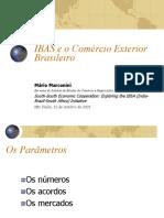 O IBAS e o comércio exterior brasileiro