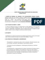 Edital 01.20 Assessoria Comunitária