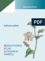 Besedotvorni atlas slovenskih narečij. Kulturne rastline