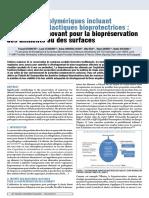 Matrices biopolymériques incluant des bactéries lactiques bioprotectrices