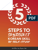 5 Steps to Skyrocket Korean Skill By Self-Study.pdf