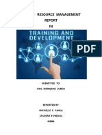 HRM-TRAINING-DEVT-REPORT-BY-Michelle-Paala