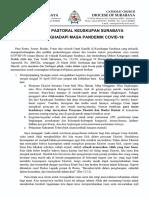 Ketetapan Pastoral III Keuskupan Surabaya nott