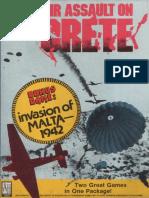[wargame-simulation]Avalon Hill - Air Assault On Crete-Malta