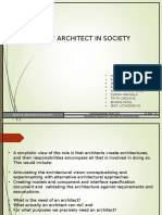 Role of architect