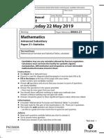 8MA0-21 AS Mathematics (Statistics) May 2019 examination paper (pdf).pdf