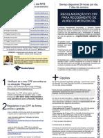 Folheto Regularização do CPF para recebimento do Auxílio Emergencial.pdf
