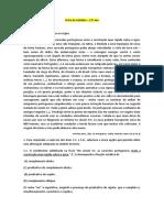 Ficha de trabalho - GRUPO II e III