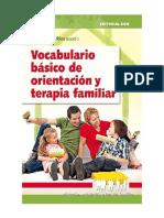 Vocabulario básico de orientación y terapia familiar