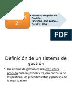 Sesión 2 Sistemas integrales de gestión