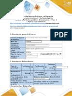 Guía de actividades y rúbrica de evaluación paso 4 - Aplicar una entrevista
