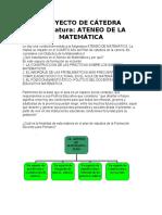 PROYECTO DE CÁTEDRA ATENEO 2019