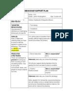 assignment  3 behaviour support plan