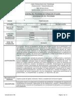 Informe Programa de Formación Titulada panificacion