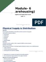 Module 6 Warehouse