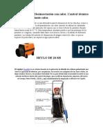 CALOR Y FRIO CONTROL DE PLAGAS