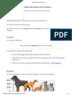 stat - Standard Deviation and Variance