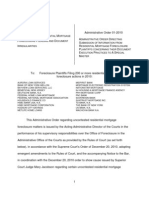 Administrative Order Directing Submission of Information From Residential Mortgage Foreclosure Plaintiffs Concerning Their Document Execution Practices to a Special Master