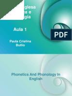 Língua Inglesa Fonética e Fonologia - aula 1